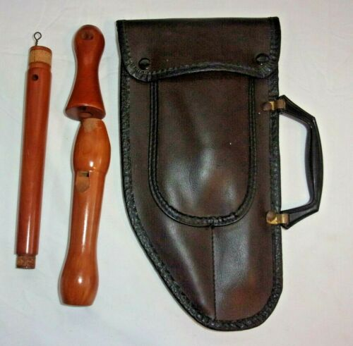 Vintage GILL Wood Recorder with Carry Case