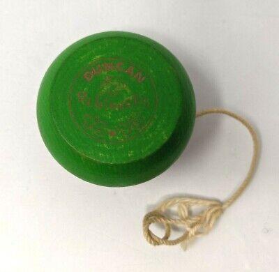 Vintage Duncan Beginners Wooden Yo-Yo Red & Green Original Toy 2