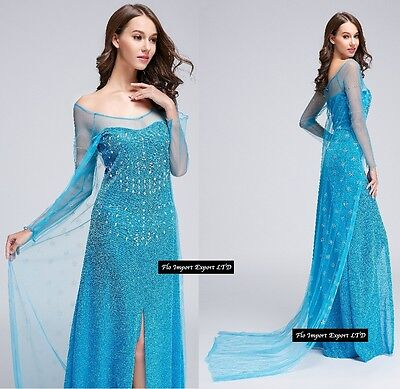 frozen - Karnevalkleid Frau elsa Dress Up Frau elsa Cosplay 8899002B