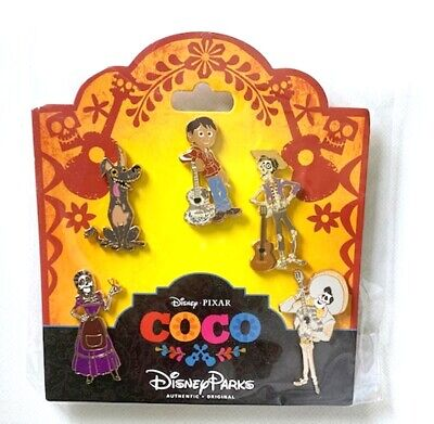 NEW DISNEY PARKS /PIXAR COCO MOVIE CHARACTERS 5 PIN BOOSTER SET