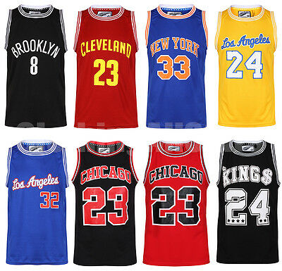 Mens Basketball Jerseys Casual American Sports Vests Top Sleevless T Shirts