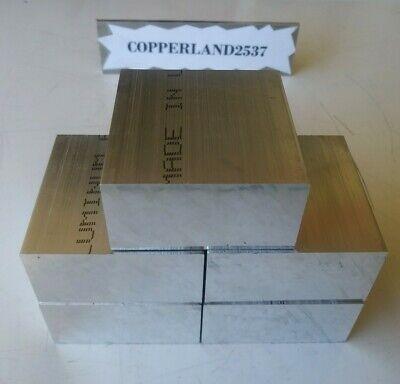 5 Pc 1 X 2 X 2 Long New 6061 Solid Aluminum Plate Flat Stock Bar Cnc Block