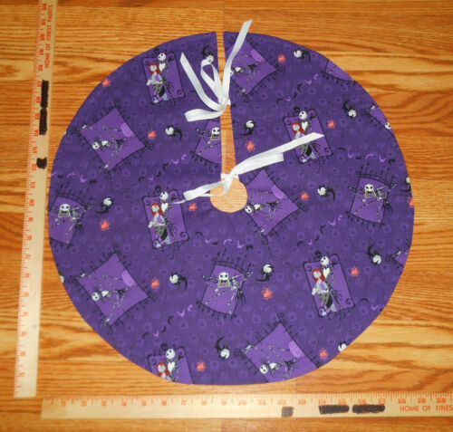 "Nightmare Before Christmas JACK & SALLY, purple, 20"" Mini Tree Skirt"
