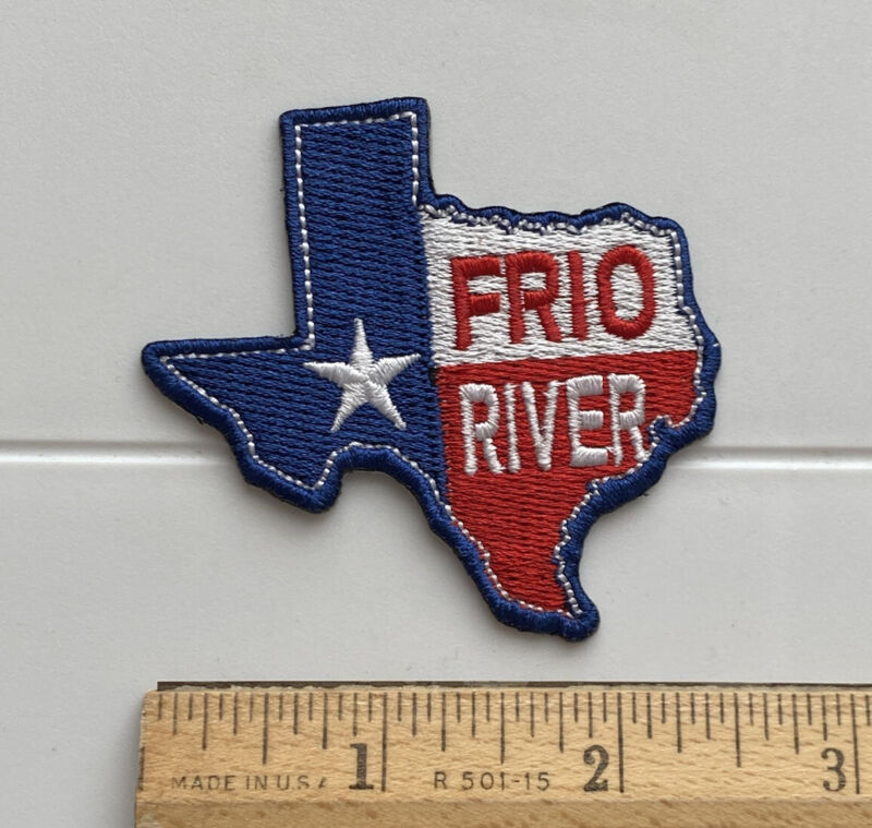 Frio River Texas Texan Flag Colors TX State Souvenir Embroidered Patch Badge