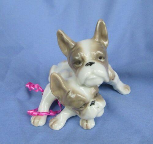 """FRENCH BULLDOG PORCELAIN DOG PAIR 6"""""""