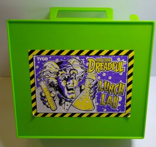 Tyco Doctor Dreadful Lunch Lab Box Mad Scientist Putrid Potions Cap