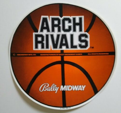 Midway Arch Rivals Original Large Promo Decal 1989 Basketball Video Game Promo