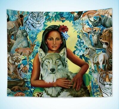 US Seller-mother earth animals hamony wall hanging tapestry wholesale home decor