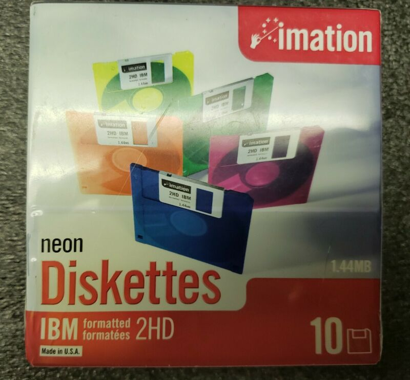 Imation neon diskettes