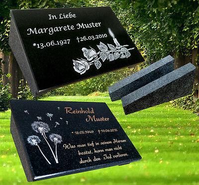 Grabstein Grabplatte Grabschmuck ca.20x30x1cm mit der Stütze Granit