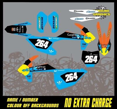KTM SX 50 65 Graphics Kit- Sticker Kit-Decals-Motocross-MX-Go Pro-Down in the mouth