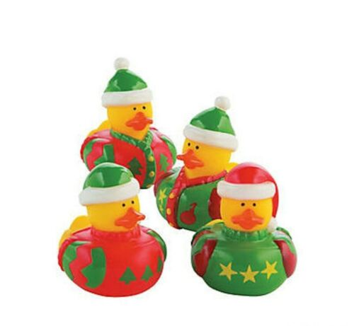 12 Ugly Sweater Ducks Rubber Ducks Christmas Ugly Sweater Party Supplies