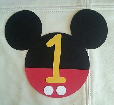 15 DIY Mickey Mouse invitations with Age number, Free Shipping USA  - Diy Mickey Mouse Invitations