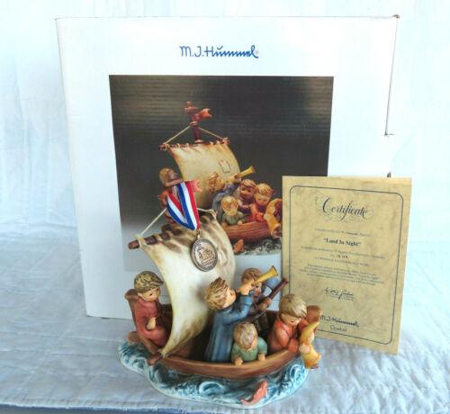 "Goebel Hummel ""Land in Sight"" # 530 Limited TMK7 Box COA Medallion, Excellent"