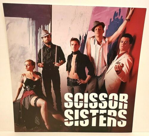 """SCISSOR SISTERS PROMO CARDBOARD FLAT SIGN TWO-SIDED TAKE YOUR MAMA 12"""" X 12"""""""