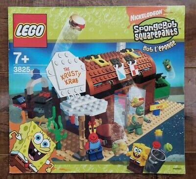 SpongeBob SquarePants LEGO - 3825 THE Krusty Krab INSTRUCTIONAL MANUAL ONLY