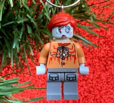 The Walking Dead Zombie Minifigure Custom Lego Christmas Tree Ornament OOAK ()