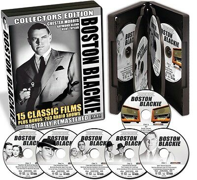 Boston Blackie   15 Films     Bonus      203 Radio Shows    On 6 Dvds   New