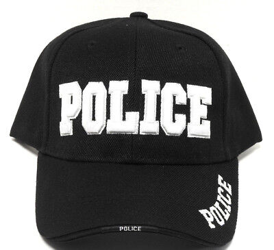 POLICE Cap/Hat Black New Bold Embroidery*Free Shipping*
