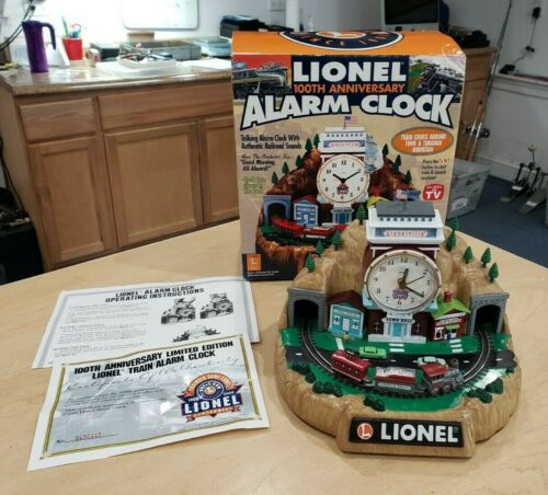 Lionel 7401 100th Anniversary Alarm Clock Pre-owned w/ Box + COA SOLD AS IS
