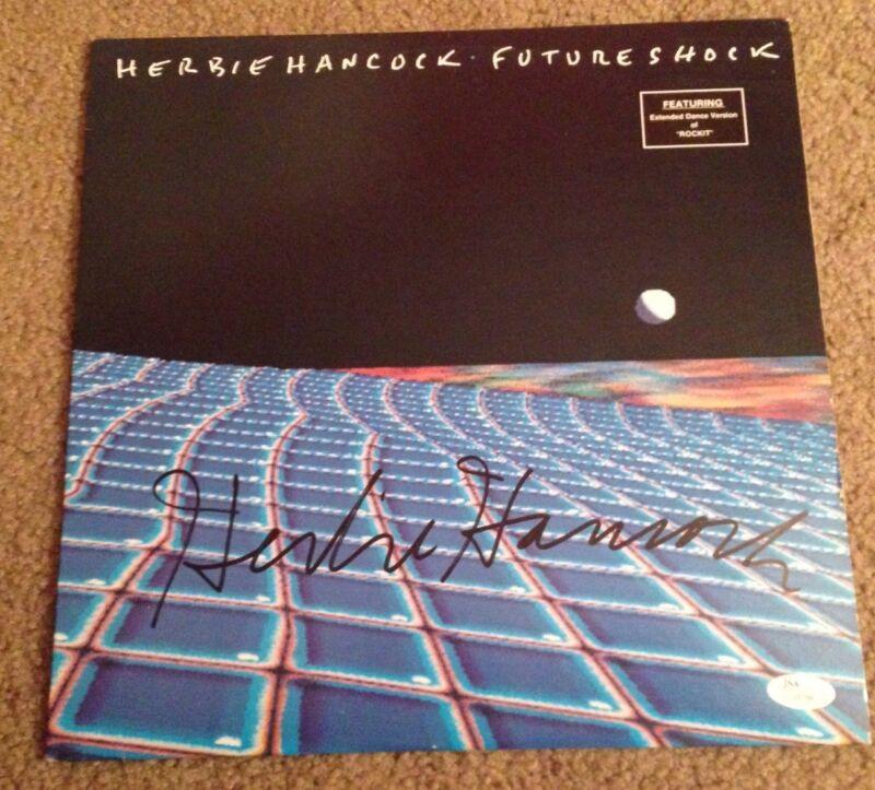 Herbie Hancock Signed LP Future Shock JSA # J20788 Jazz Legend Vinyl