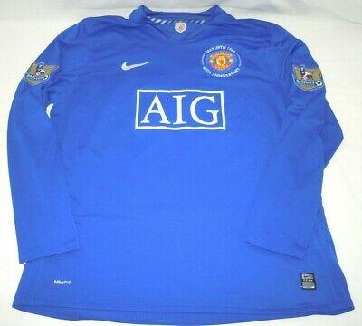 Ryan Giggs Manchester United Jersey XXL Nike Third 2008-2009 Blue Long Sleeve 11 ()