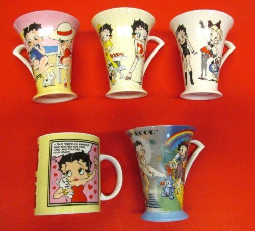 BETTY BOOP 4 CENTRIC BONE CHINA MUGS 1 PORCELAIN COFFEE MUG ANIMATED CHARACTER