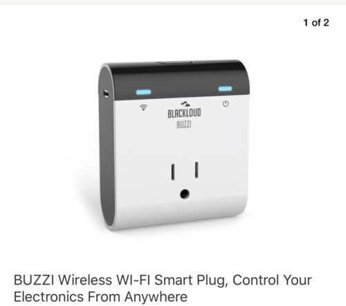 BUZZI Wireless WI-FI Smart Plug, Control Your Electronics From Anywhere