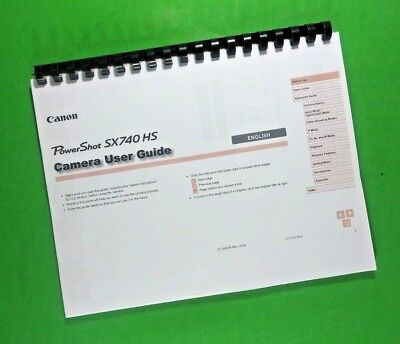 Canon SX740 HS Power Shot Full Camera 130 Pg LASER 8.5 x 11