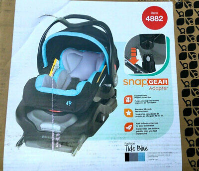 Baby Trend Secure Snap Gear 35 Infant Car Seat Tide Blue with Car Seat Base Baby Trend Car Seat Base