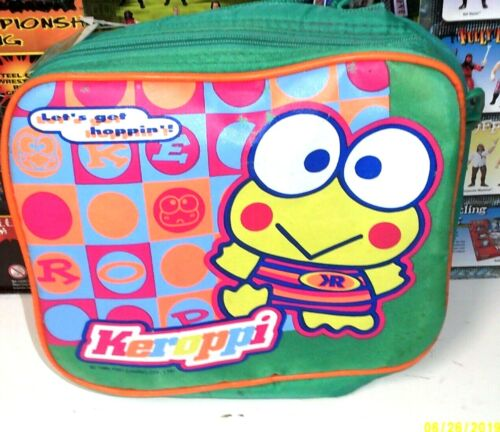 Vintage 1997 Sanrio Keroppi insulated Lunch Bag w/Strap & bottle new w/tag