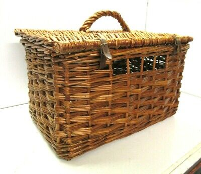 VINTAGE WICKER BASKET - PIGEONS / BIRDS / RABBITS ETC