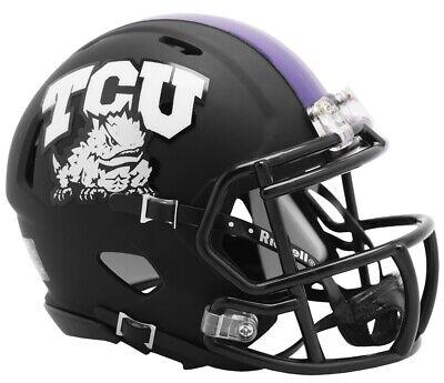TCU Horned Frogs 2019 Matte Black NCAA Revolution SPEED Mini Football -