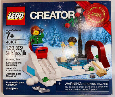 NEW LEGO Creator Winter Village Outdoor Sledding Set 40107 2014 Limited Edition
