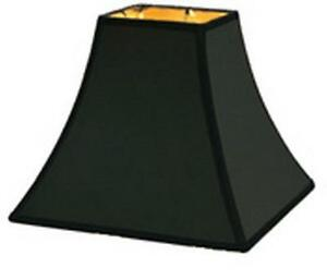 10 inch candle stick replacement lamp shade black with gold lining. Black Bedroom Furniture Sets. Home Design Ideas
