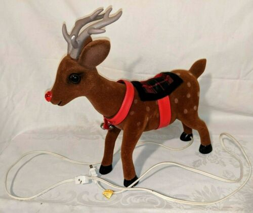 Vintage Rudolph Red Nosed Reindeer Telco Motionette Animated Christmas Holiday