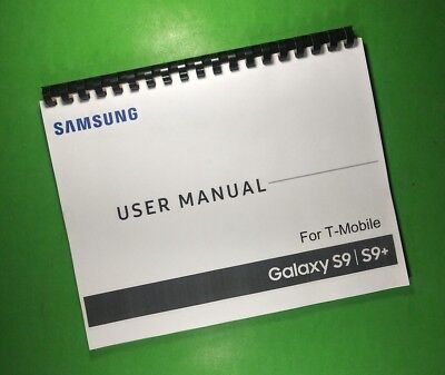 LASER PRINTED Samsung Galaxy S9 S9+ T-Mobile Phone 221 Page Owners Manual Guide