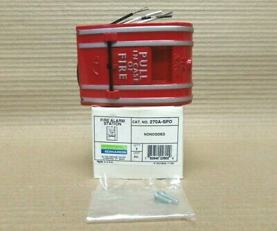 New Edwards 270a-spo Non Coded Fire Alarm Pull Station Kmgm