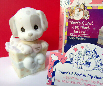 Precious Moments THERE'S A SPOT IN MY HEART FOR YOU Dog Puppy Figurine