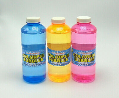 Bubbles 16.9 Fl Oz for Kids Ages 3 and Up Non-Toxic - 3 Pack