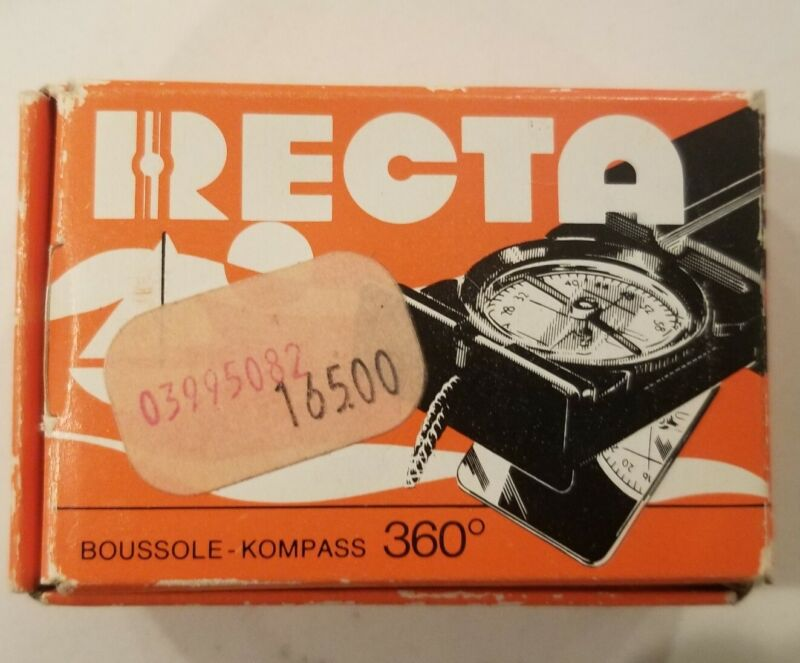 RECTA Swiss Compass - Vintage Original Packaging and Owners Manual