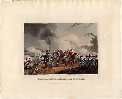 SIR ABERCROMBY-Napoleon-Krieg-Schlacht-Aquatinta 1815