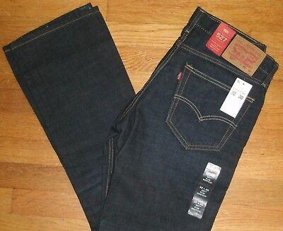 Levi's 527 Slim Boot Cut Leg Denim Jeans Sits Below Waist Dark Blue New Dark Denim Boot-cut Jeans