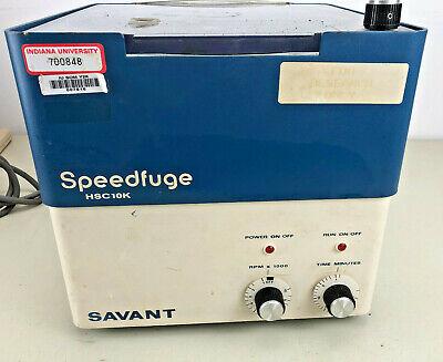 Savant Speedfuge Centrifuge HSC-10K incl. Rotor HSR-48