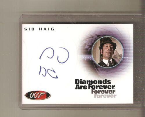 James Bond star Sid Haig (Deceased) Diamonds are Forever autograph card