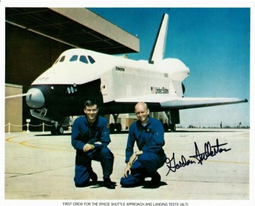 First Crew for the Space Shuttle Approach and Landing Tests (ALT) Photo Signed b