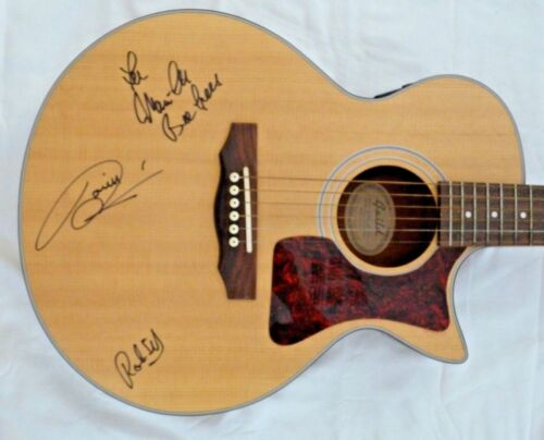 The Bee Gees All 3 Band Body Signed Auto Guild Guitar W Case BAS REAL Certified