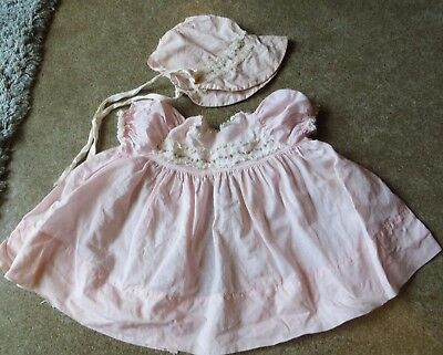 Vintage Vogue Baby Dear Doll Dress and Bonnet