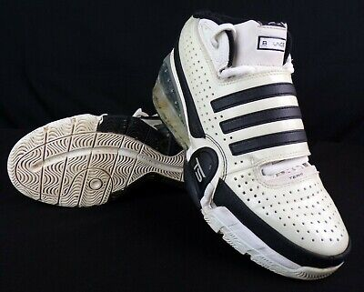 Adidas Bounce TS Commander Basketball Shoes Mens Size 8 White Black