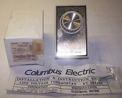 New Columbus 50-90 Degree Electric Line Voltage Thermostat Etd5s1